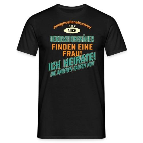 JGA BRAEUTIGAM - Dekorationsnäher - petrol strong orange - RAHMENLOS Berufe Geschenk - Männer T-Shirt