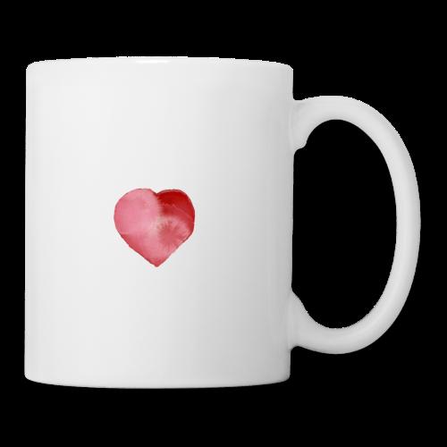 Tasse avec cœur cotonneux (créateur) - Mug blanc