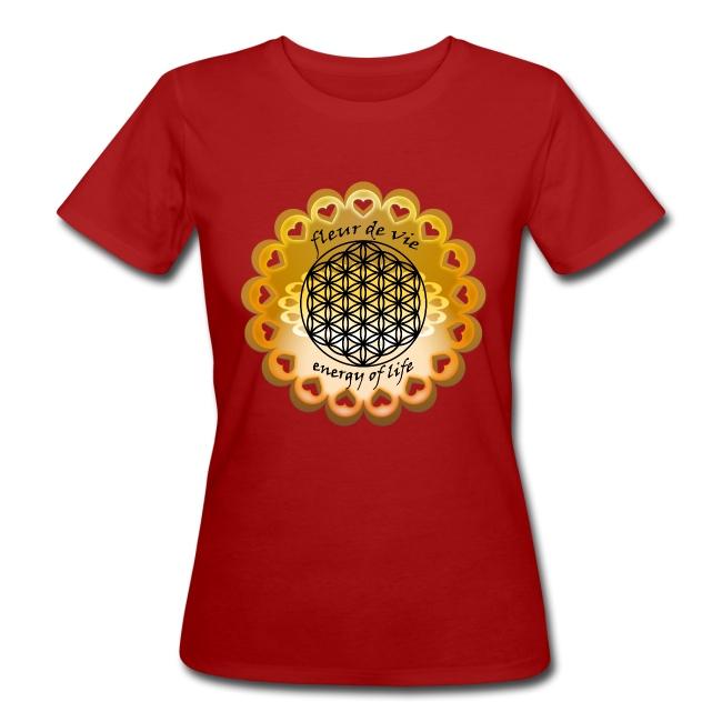 Tee shirt Bio Femme Fleur de vie