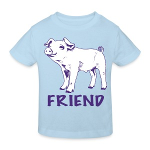 piglet Lottie purple on kids' organic t-shirt - more colours available - Kids' Organic T-shirt