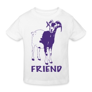 Gary purple on kids' organic t-shirt - more colours available - Kids' Organic T-shirt