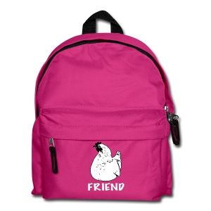 Hennie the chicken black on kids' backpack - more colours available - Kids' Backpack