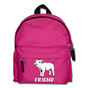 piglet Lottie black on kids' backpack - more colours available - Kids' Backpack