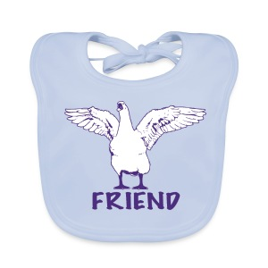 George purple on organic bib - more colours available - Baby Organic Bib