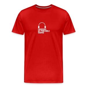 Museum of Portable Sound red logo Men's tee - Men's Premium T-Shirt