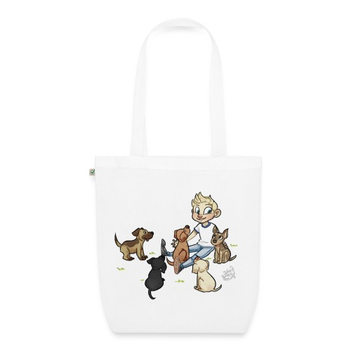 Dog bag with grass - EarthPositive Tote Bag