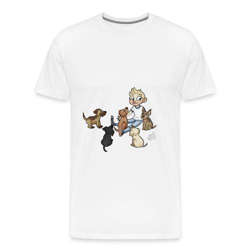 Dog mens shirt no grass - Men's Premium T-Shirt