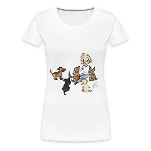 Dog womens shirt no grass - Women's Premium T-Shirt