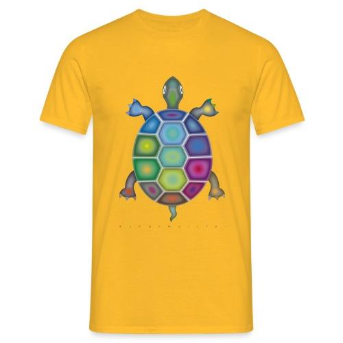 Männer-T-Shirt mit Farbenschildkröte - Männer T-Shirt