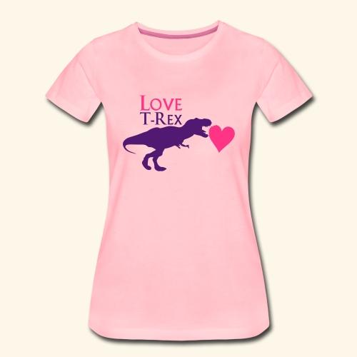T-shirt femme love T-rex - T-shirt Premium Femme