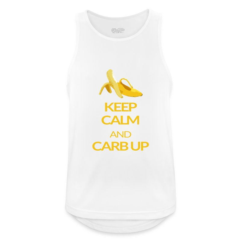 KEEP CALM and CARB UP boys_sport - Männer Tank Top atmungsaktiv
