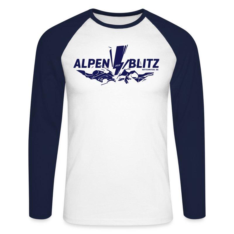 Alpenblitz Logo 2016 - Männer Baseballshirt langarm