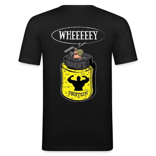 Escargot Wh'eeeeeeeeeeey H - T-shirt près du corps Homme
