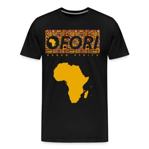 Ofori Kente Africa (Black) - Men's Premium T-Shirt