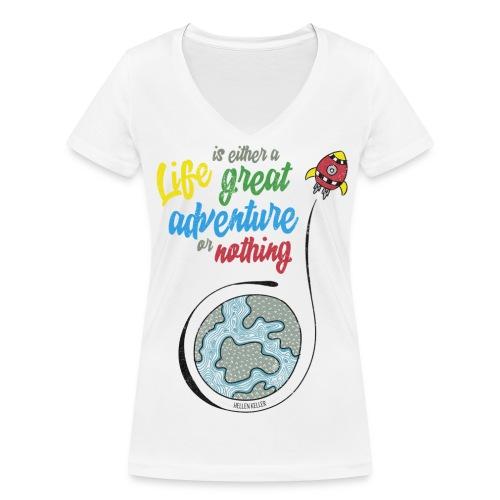Life - T-shirt bio col V Stanley & Stella Femme