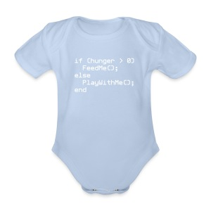 Baby NERD Playsuit if (hunger ... - Organic Short-sleeved Baby Bodysuit