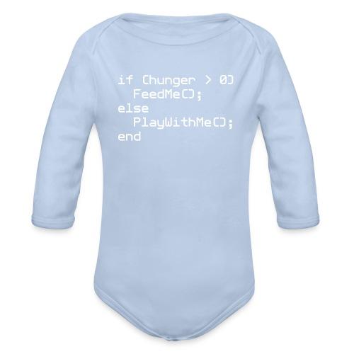 Baby NERD Playsuit if (hunger ... - Organic Longsleeve Baby Bodysuit