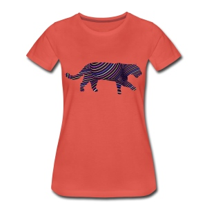 Jaguar in Stripes - Women's Premium T-Shirt