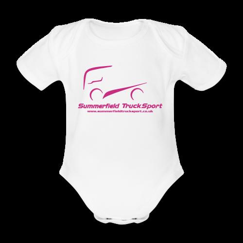 Summerfield Truck Sport Supporters Merchandise. 2016 - Baby Gro - Organic Short-sleeved Baby Bodysuit