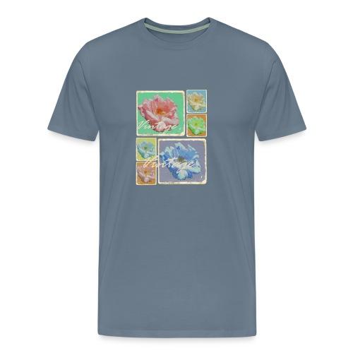 Vintage Rosen Collage - Männer Premium T-Shirt