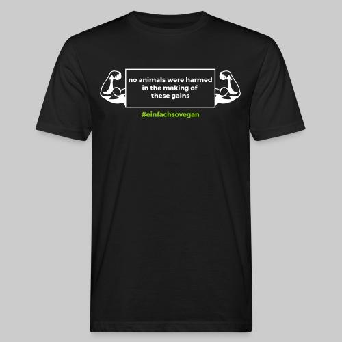 T-Shirt No animals were harmed, schwarz - Männer Bio-T-Shirt