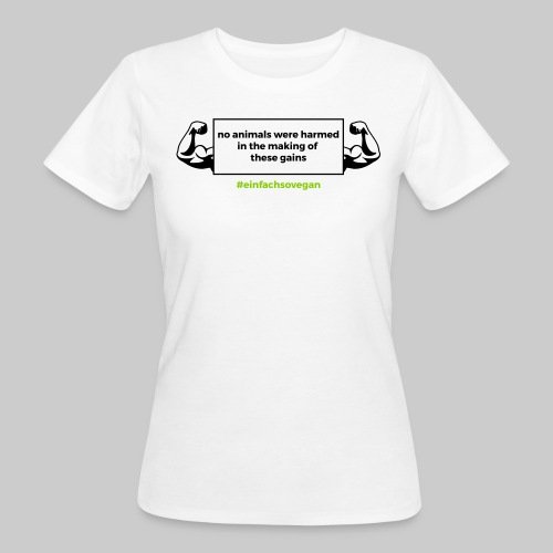 Girly Shirt No animals were harmed, weiß - Frauen Bio-T-Shirt