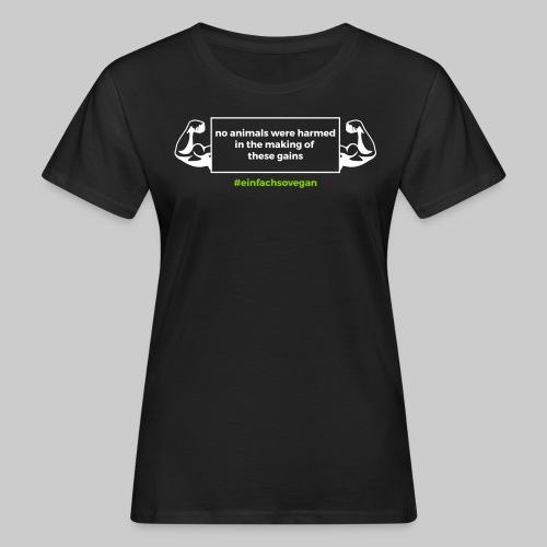 Girly Shirt No animals were harmed, schwarz - Frauen Bio-T-Shirt