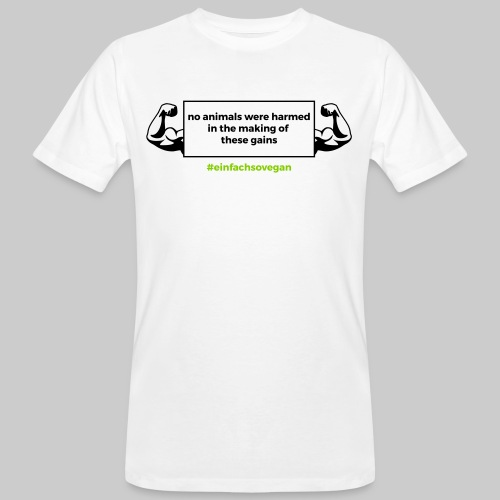 T-Shirt No animals were harmed, weiß - Männer Bio-T-Shirt