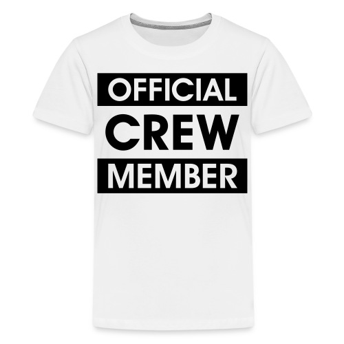 Official Crew Member T-Shirt für Teenager - Teenager Premium T-Shirt