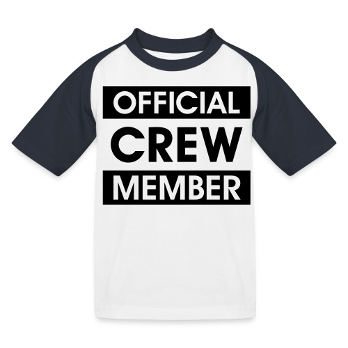 Official Crew Member Baseball T-Shirt für Kinder - Kinder Baseball T-Shirt
