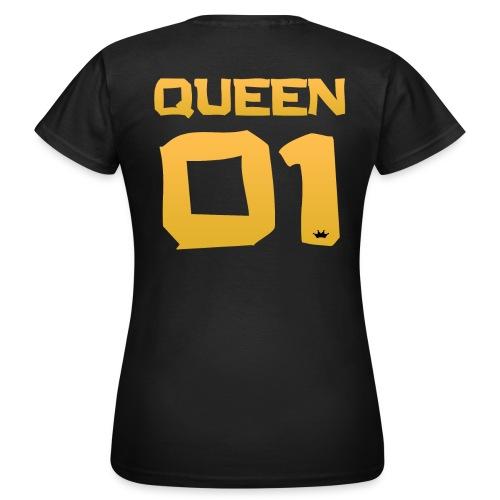 QUEEN - 01 (Black-GOLD Edition) - Frauen T-Shirt
