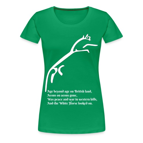 White Horse of Uffington with Quote - Women's Premium T-Shirt