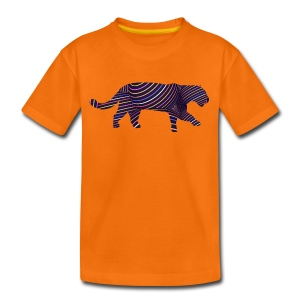 Jaguar in Stripes - Teenage Premium T-Shirt