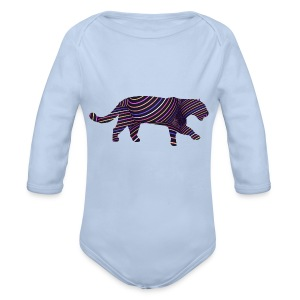 Jaguar in Stripes - Longsleeve Baby Bodysuit