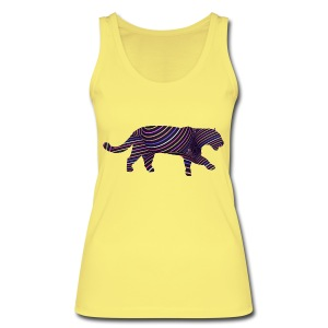 Jaguar in Stripes - Women's Organic Tank Top by Stanley & Stella