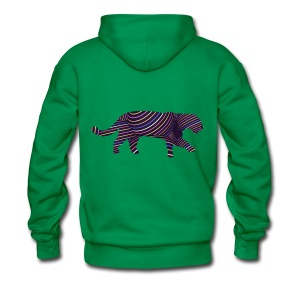 Jaguar in Stripes - Men's Premium Hoodie