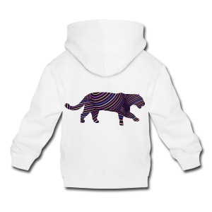 Jaguar in Stripes - Kids' Premium Hoodie