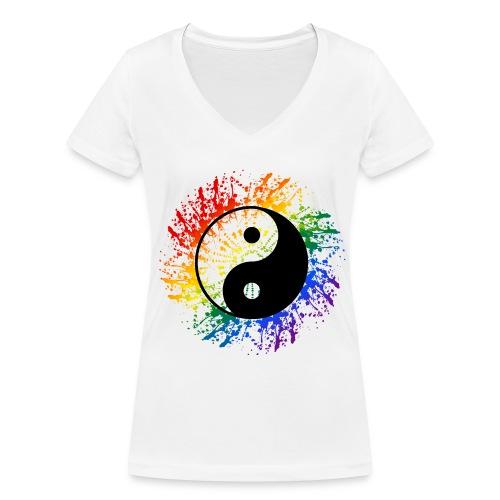 Einhorn - Frauen Bio-T-Shirt mit V-Ausschnitt von Stanley & Stella