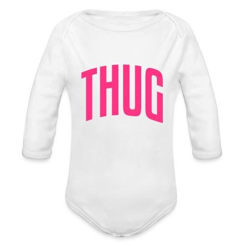 Body Motif Thug Rose - Body bébé bio manches longues