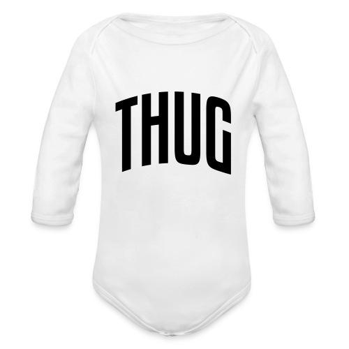 Body Motif Thug Noir - Body bébé bio manches longues