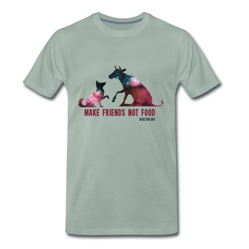 Make Friends Not Food #1 - Men's Premium T-Shirt