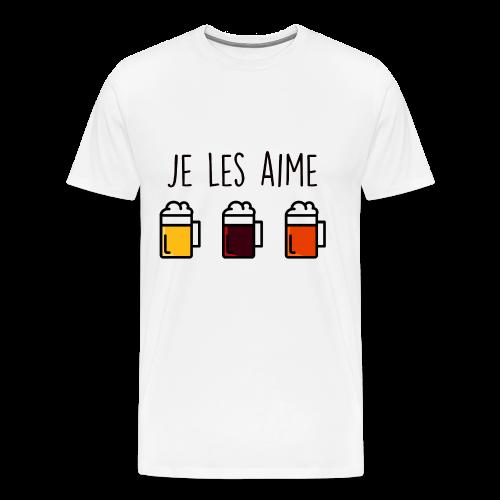 T-shirt je les aime ... - T-shirt Premium Homme