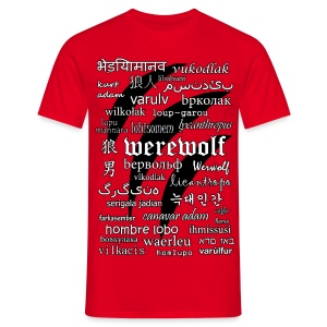 Werewolf in 33 Languages - Men's T-Shirt - Koszulka męska