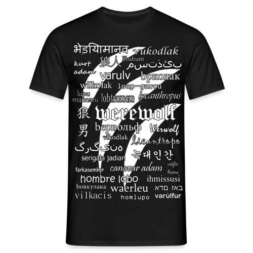Werewolf in 33 Languages - Women's T-Shirt (Black Ver.) - Men's T-Shirt