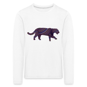 Jaguar in Stripes - Kids' Premium Longsleeve Shirt