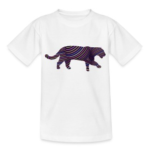 Jaguar in Stripes - Kids' T-Shirt