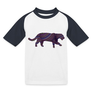 Jaguar in Stripes - Kids' Baseball T-Shirt