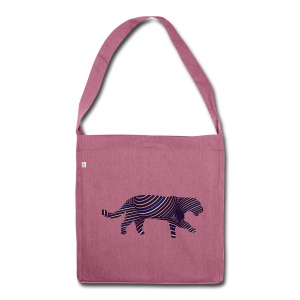 Jaguar in Stripes - Shoulder Bag made from recycled material