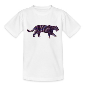 Jaguar in Stripes - Teenage T-shirt