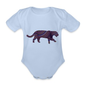 Jaguar in Stripes - Organic Short-sleeved Baby Bodysuit